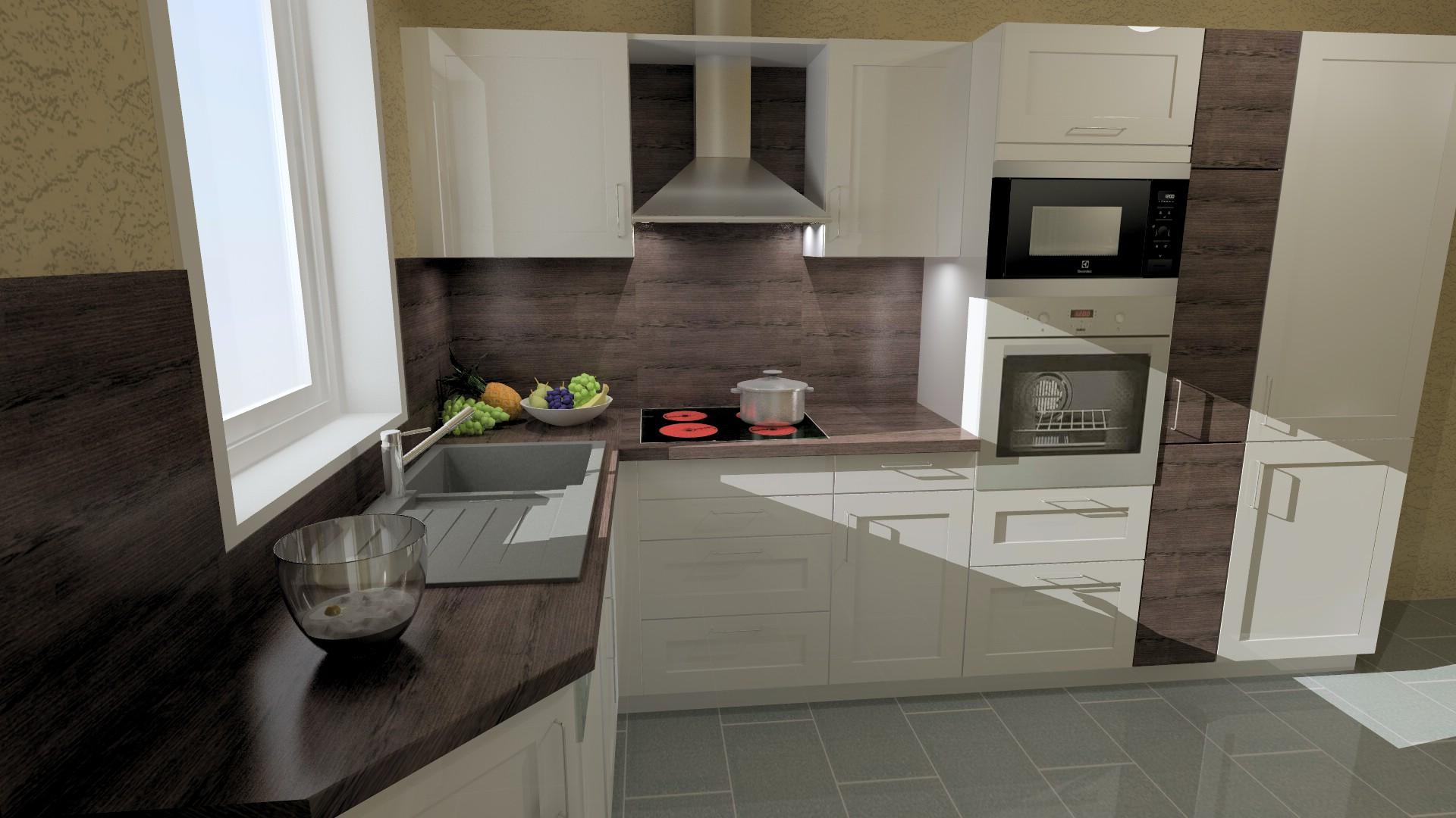 kueche eiche und weiss. Black Bedroom Furniture Sets. Home Design Ideas