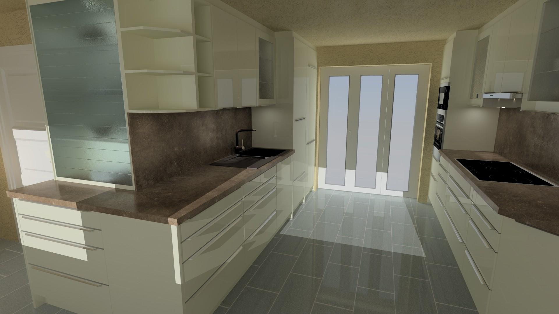 Küche Mit Glasfront mit nett design für ihr wohnideen